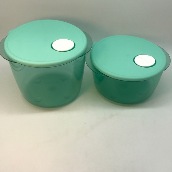 Tupperware CrystalWave  Round Plus Containers 2-PC